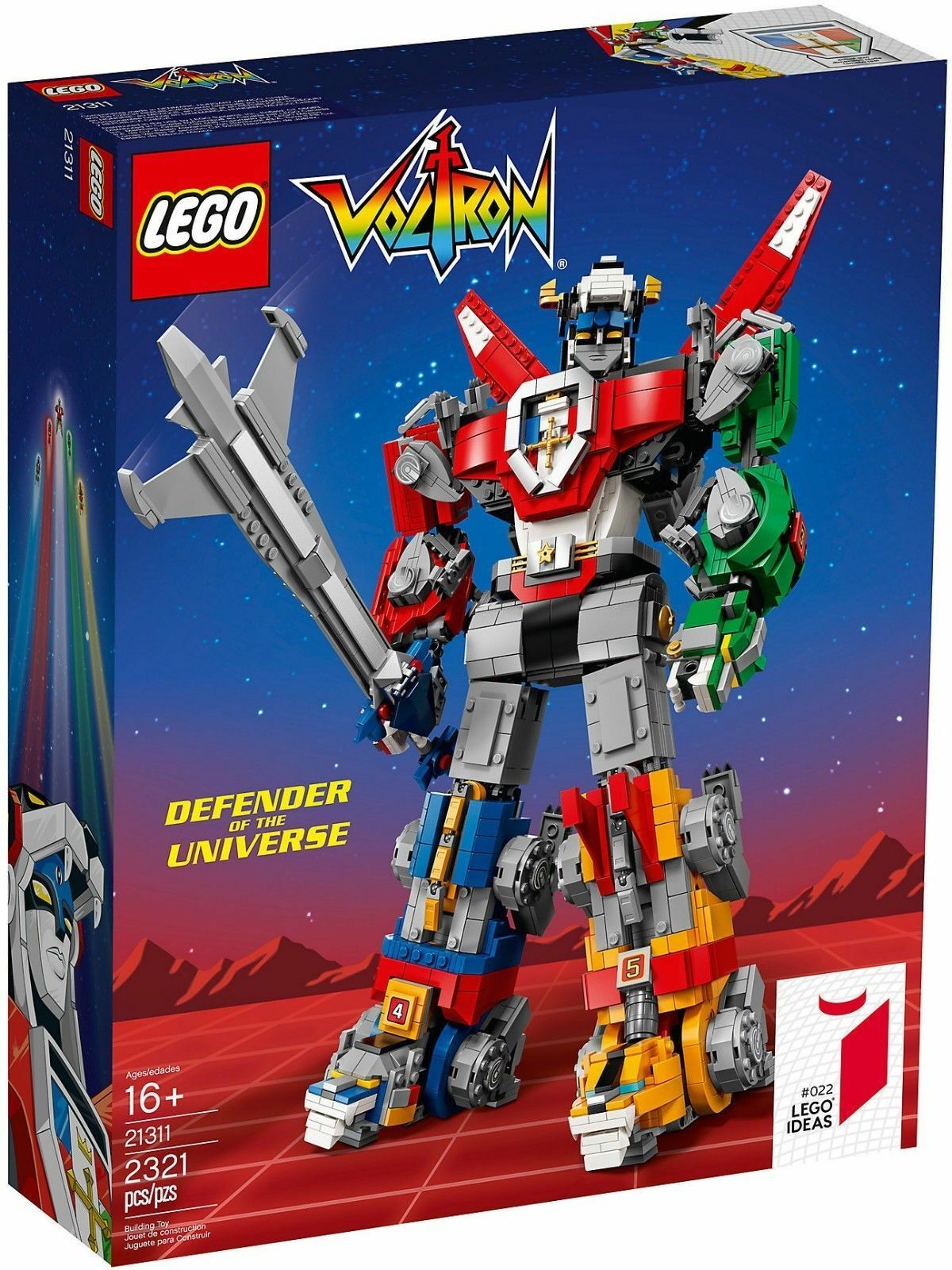 Lego Ideas  22, 21311,    Voltron, Defender of the Universe, New f17631