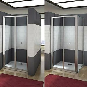 New aica bifold shower enclosure walk in 5mm safety glass door image is loading new aica bifold shower enclosure walk in 5mm planetlyrics Gallery