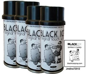 4 New Black Ice Chromatone Hair Color Spray Black 4 Oz Spray