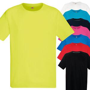 T-Shirt-Sportiva-Traspirante-Uomo-Maglia-Tecnica-Running-Corsa-Fruit-of-The-Loom