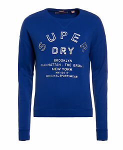 new womens superdry factory second embossed sport code crew sport