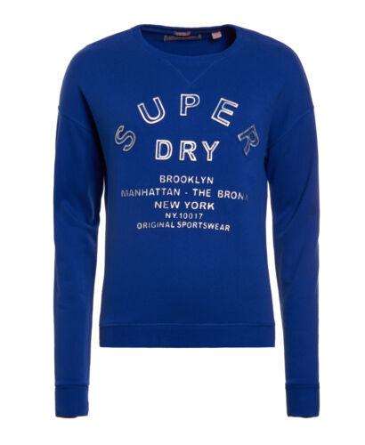 NUOVA linea donna Superdry FACTORY secondo CODICE in rilievo sport Crew Sport CODICE Blu