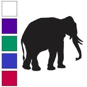 Elephant-Trunk-Tusk-Decal-Sticker-Choose-Color-Size-2796