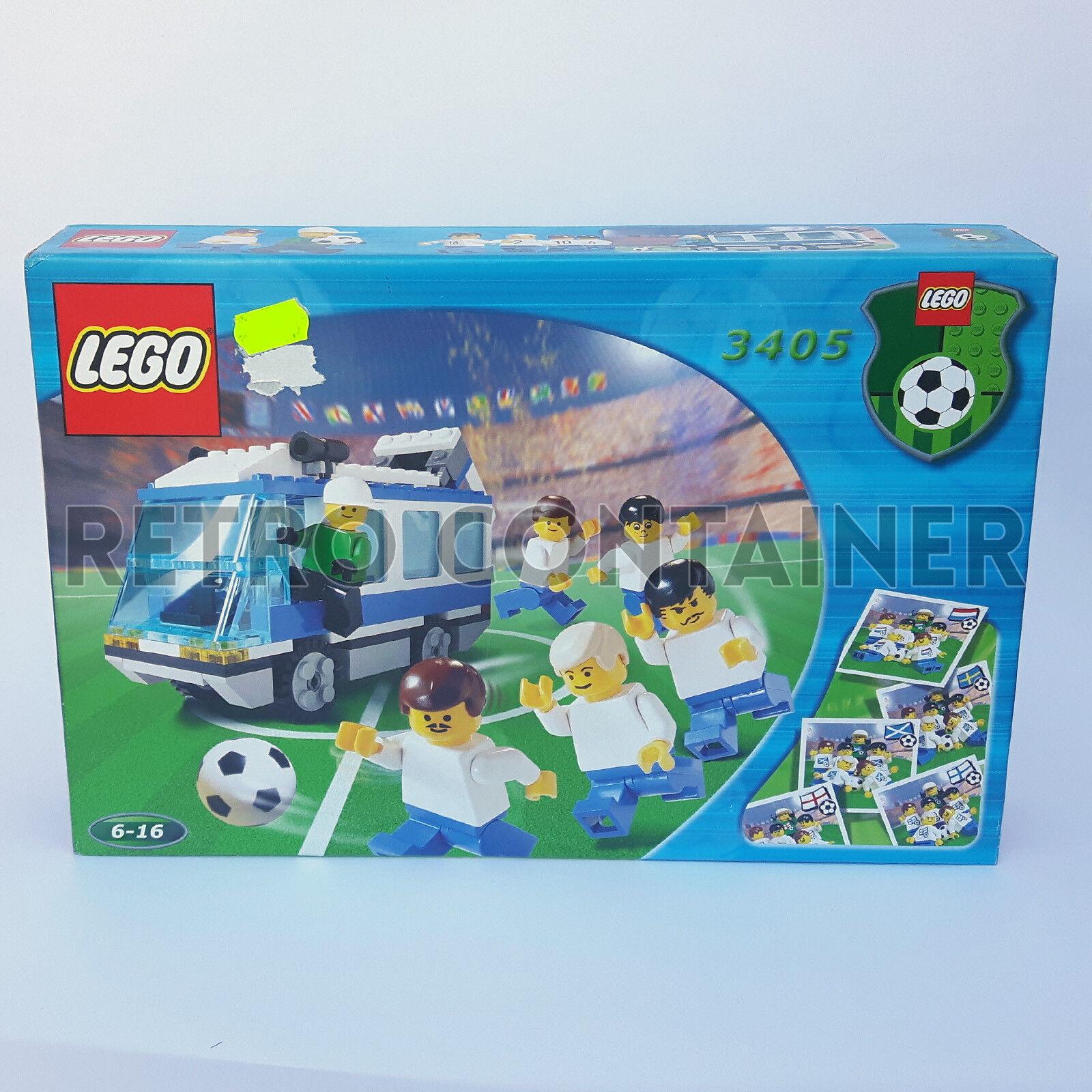 LEGO NEW Set MISB Sigillato 3405 - Blau Team Bus - 2000 Soccer Sports KG