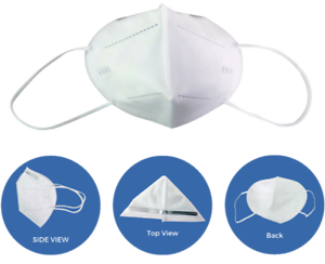500 Pieces - KN95 Disposable Half Face 4 Layer Dust Mask PM2.5