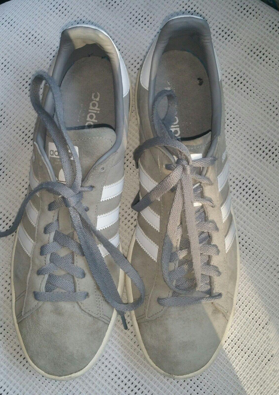 adidas Originals Campus Suede Sneaker  Grau Gr. 46  UK 11