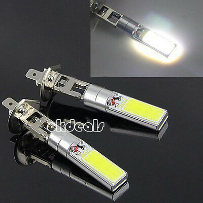 2PCS H1 7.5W High Power Xenon White 6000K COB LED Car Auto Fog Lights Lamp Bulb