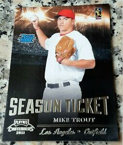 MIKE-TROUT-2011-Playoff-RATED-Rookie-Card-RC-Los-Angeles-Angels-ROY-AS-MVP-HOT