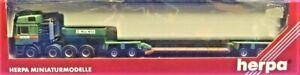 Herpa-147460-MAN-E2000-Dropdeck-Heavy-Haulage-Truck-MAX-WILD-1-87-Die-cast-MIB