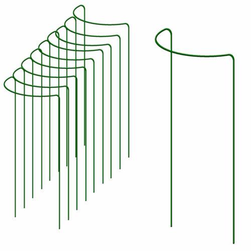 10 x Pflanzenstütze 100 cm hoch Strauchstütze Busch Staudenhalter Staudenstütze