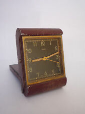 Vintage ORIS Travel Alarm Clock - Working - Swiss Made
