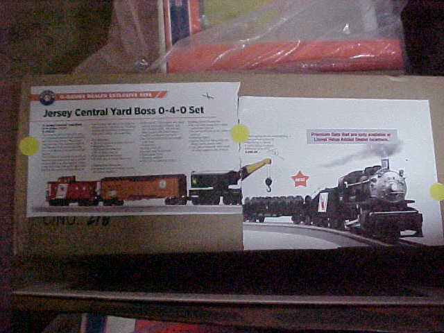 LIONEL,,,,,DEALER EXCLUSIVE SET,,,,,JERSEY CENTRAL YARD BOSS