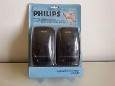PHILIPS SBC BP010 Stereo Speaker System - Coppia Casse Compatte Portatili NUOVE