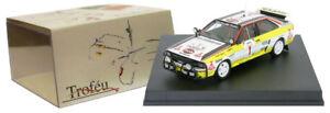 Trofeu 1613 Audi Quattro A2 n ° 1 3ème rallye Safari 1984 - Hannu Mikkola au 1/43 Échelle 5601673516130