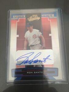 2005-Playoff-Absolute-Ron-Santo-Autograph-50-Chicago-Cubs-Gold-Spectrum-SP-HOF