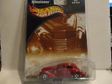 Hot Wheels Auto Milestones  Red 1937 810 Cord w/Real Riders