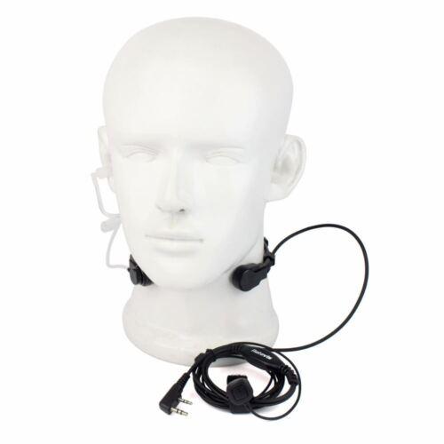 Retevis 2 Pin Throat Walkie Talkie Accessories Headset For Baofeng UV 5R Retevis