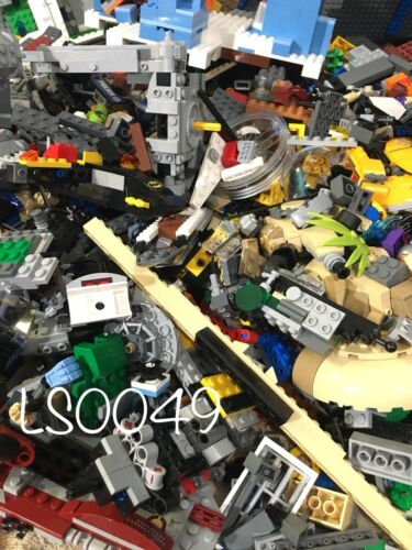 2.5 Pounds Estimated 1250 Lego Pieces LOT WITH MINIFIGURES #washed /& #sanitized