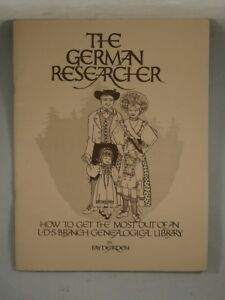 Details about THE GERMAN RESEARCHER by Fay Dearden 1983 LDS Genealogical  Research Genealogy