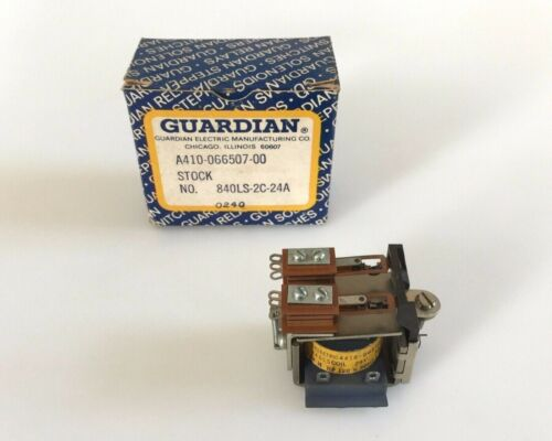 New Surplus Guardian Electric 840LS-2C-24A  Latching Relay  A410-066507-00
