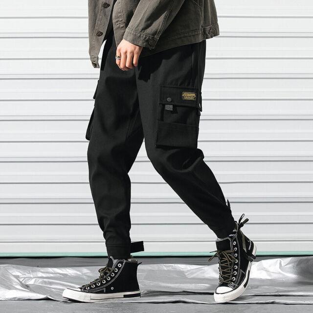 Men Pocket Harem Pants Hip Hop Street Cargo Trousers Classic Casual Ankle HOT A6