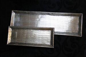 Deko-Tablett-Aluminium-Handmade-Gold-Kerzentablett-56cm-36cm-Tisch-Accessoires