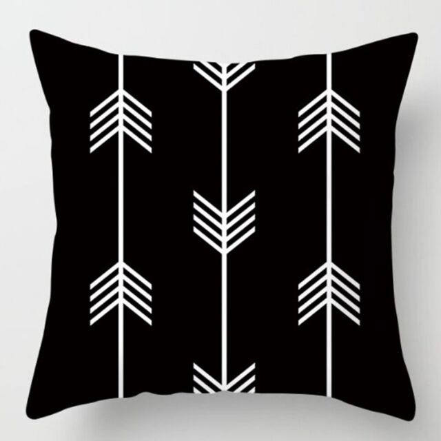 Black /& White Geometric Throw Cover Pillow Cushion Square Case Decor Dazzling