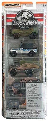 Jurassic World 5-pack Flotta Fuoristrada Jeep Textron Matchbox