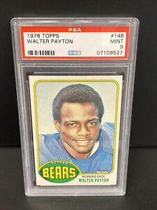"1976 Topps Football #148 Walter Payton Bears RC Rookie HOF PSA 9 "" LOOKS GEM """