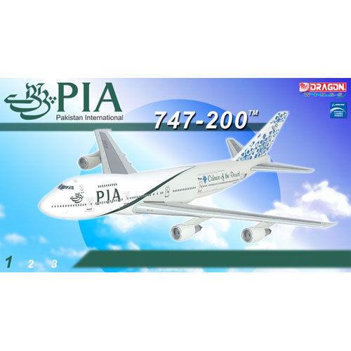 DRAGON 55958 PAKISTAN INTERNATIONAL 747-200 1//400 DIECAST MODEL PLANE NEW