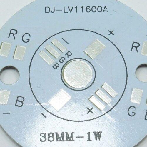 3W Aluminum Power RGB LED PCB Board 3x1W Plate Series Heat Sink Montage White