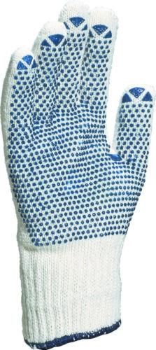 X12 Paires Delta Plus Venitex TP169 coton blanc gants de travail de sécurité Avec Pvc Dots