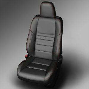 katzkin black leather interior seat covers fits 2015 2017 toyota camry se xse ebay. Black Bedroom Furniture Sets. Home Design Ideas