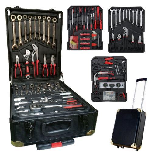 187PC tool set clé mixte à cliquet tournevis dans mallette en aluminium noir