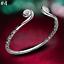 Women-925-Silver-Flower-Cuff-Bangle-Wristband-Bracelet-Wedding-Jewelry-Gift-TR thumbnail 15