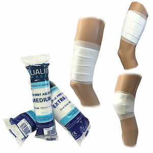 Qualicare-Premium-Erste-Hilfe-Steril-Medizinisch-Saugfaehige-Polster-Verband