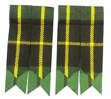Men's Kilt Hose Sock Flashes Hunting Wallace Tartan/ Kilt Hose Socks Flashes