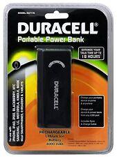 Duracell DU7170 4,000mAh Rechargeable Portable Power Bank - Black