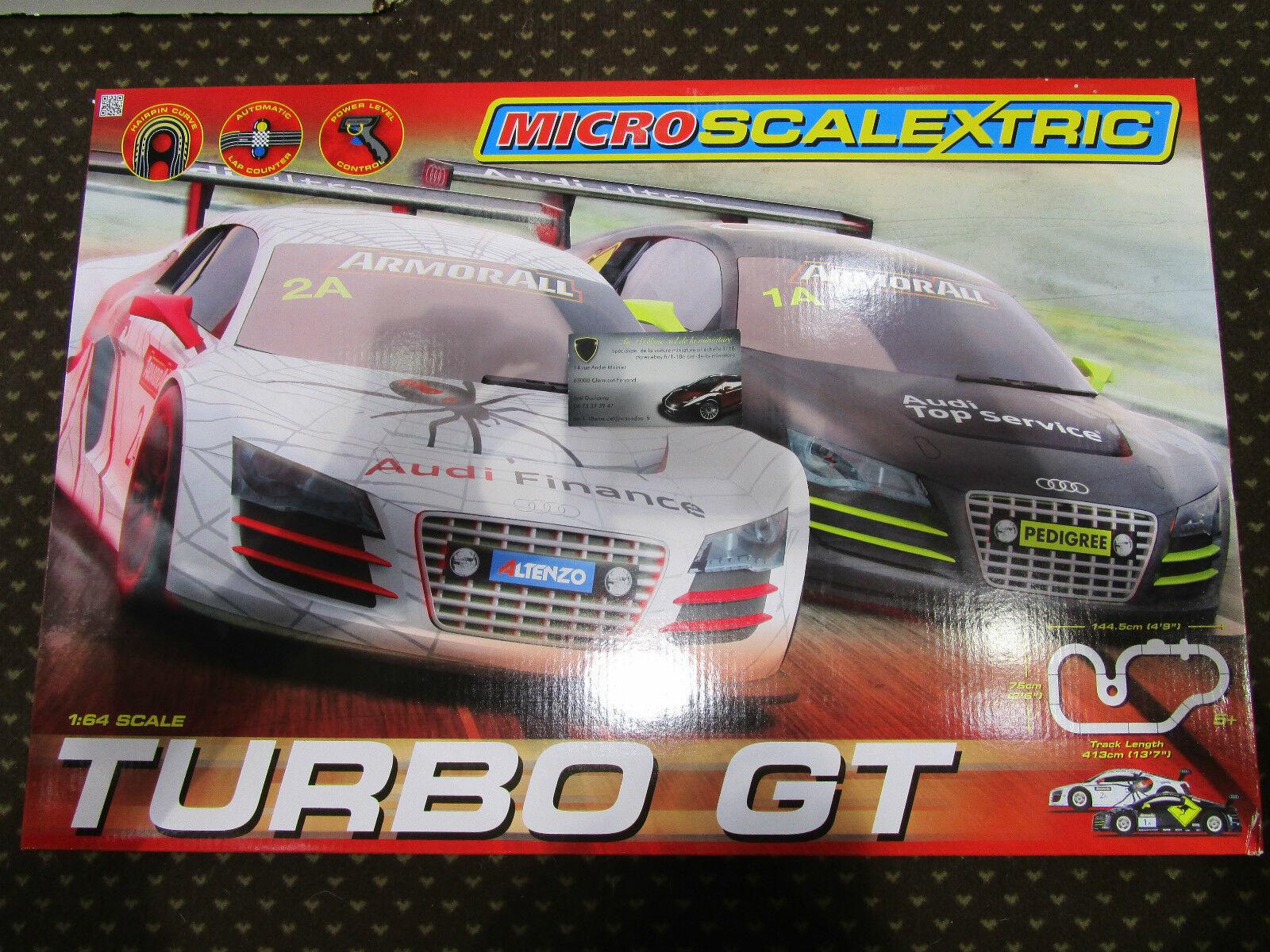 COFFRET CIRCUIT TURBO GT au 1 64 MICRO SCALEXTRIC G1118  SOLT routier électrique