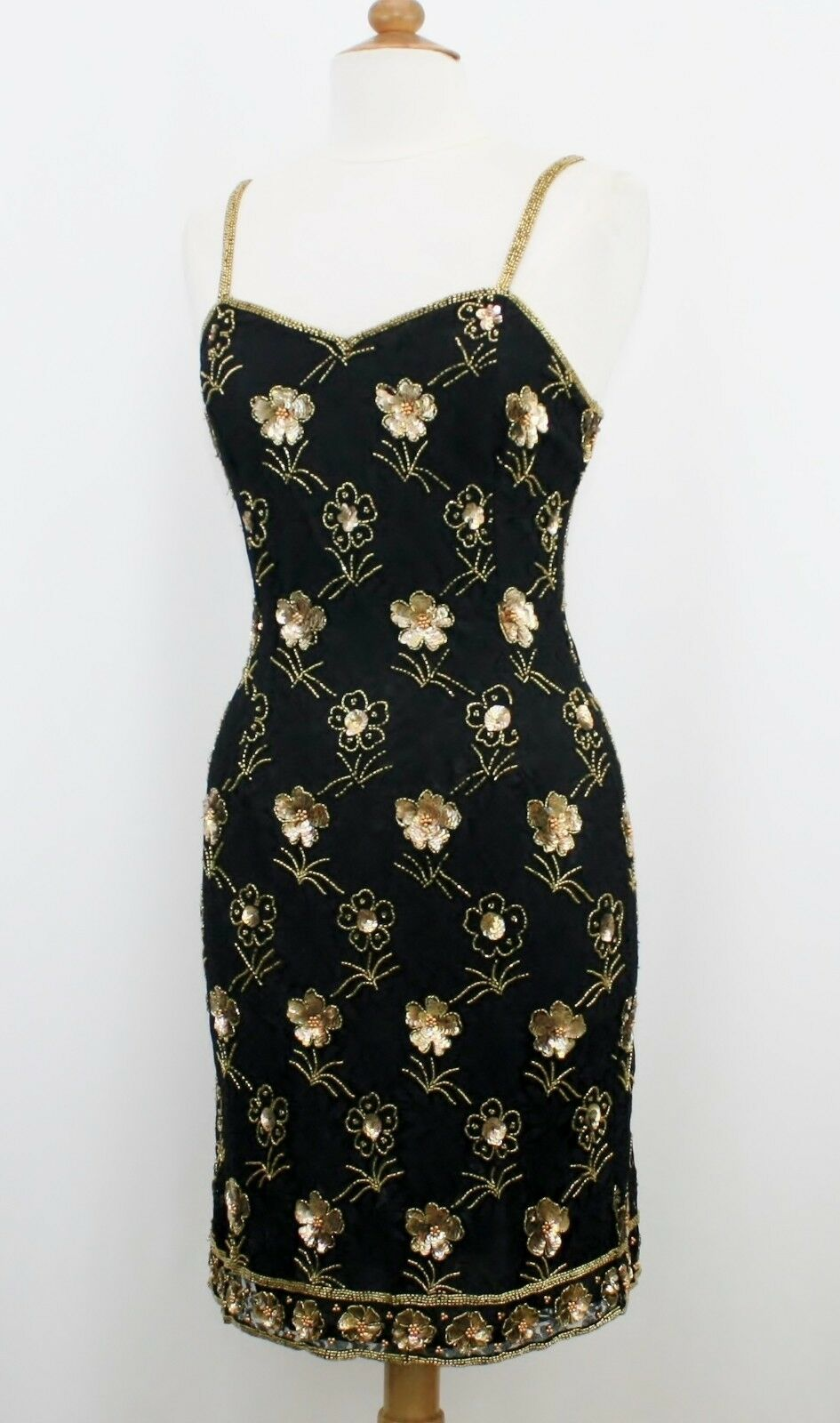 Jasdee Vintage Dress Bead & Sequins Hand Hand Hand Work On Lace Style 5050M 14c5e9