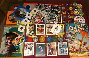 Junk-Drawer-Lot-Collectibles-Baseball-Ozzie-Smith-Henderson-Misc-10-19-3P