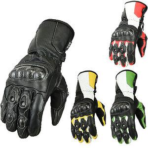Motorradhandschuhe-Leder-Motorrad-Handschuhe-Biker-Lederhandschuhe-Gr-s-2xl
