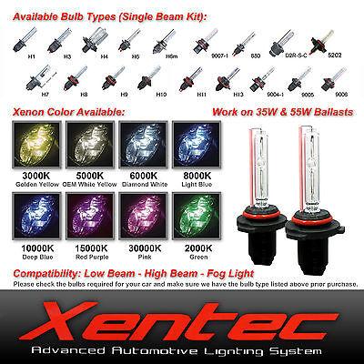 Ocean Blue or 9140 10000K x 1 pair bundle with 2 x 35W Digital Slim Ballast Xentec Xenon bulb H10