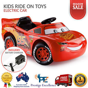 Image Is Loading Kids Ride On Toys Electric Cars Lightning Mcqueen