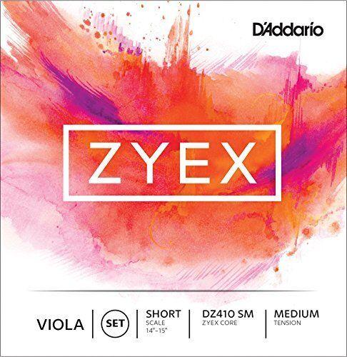 Short Scale Medium Tension D/'Addario Zyex Viola String Set