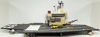 GI JOE USS FLAGG AIRCRAFT CARRIER Vintage Figure Playset 95% COMPLETE 1985