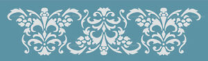 DAMASK-BORDER-STENCIL-for-WALL-CAKES-CURTAINS-PATTERN-FAUX-MURAL-DECOR-1025