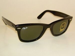 2a49bc3a07 New RAY BAN Original WAYFARER Sunglasses RB 2140 901 Black Frame ...
