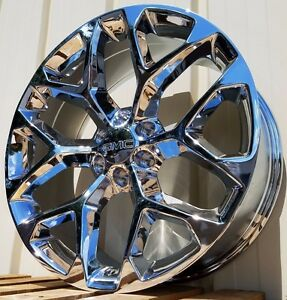 22 Gmc Sierra Chrome Yukon Denali Wheels Rims Ck156 2014 2015 2016