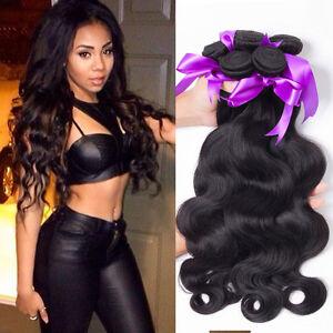 Brazilian-Body-Wave-Human-Hair-Extension-Virgin-Remy-Hair-Bundle-3bundles-150g